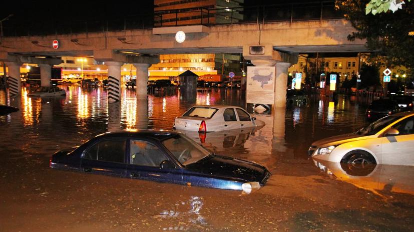Ливень в Ростове-на-Дону вызвал сильные подтопления
