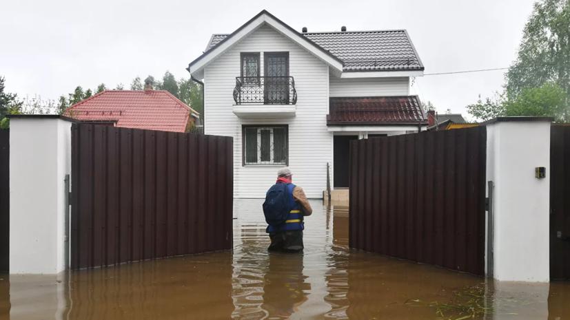 В Подмосковье подтоплены 25 дачных домов и 41 участок