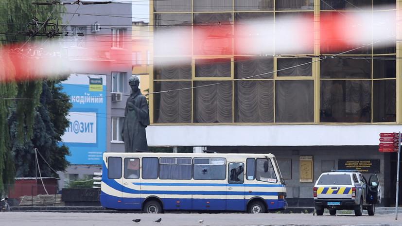 Захватчик автобуса в Луцке задержан