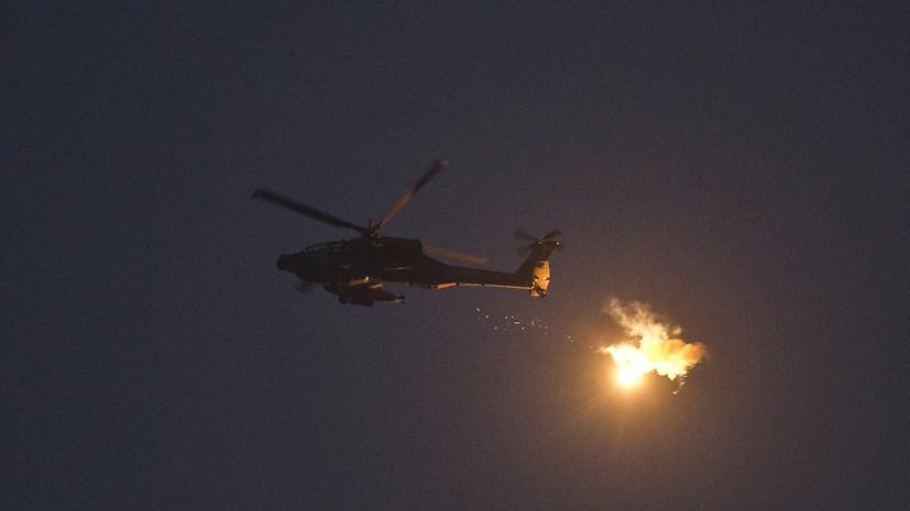 Двое сирийских военных пострадали в результате атаки Израиля