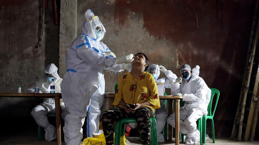 За сутки в Индии выявили более 48 тысяч случаев коронавируса