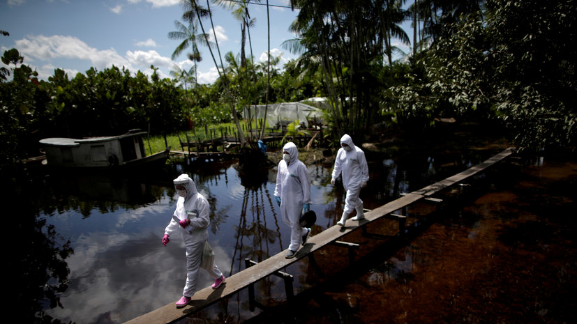 Число случаев коронавируса в Бразилии достигло 2 419 091