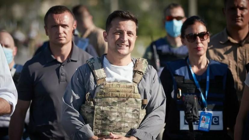 Зеленский заявил, что в Донбассе есть «единичные выстрелы»