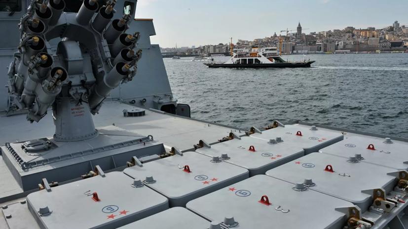 Фрегат «Адмирал Эссен» и береговой ракетный комплекс «Утёс» ЧФ провели учения