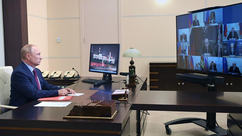 «Состоялся обстоятельный разговор»: Путин обсудил с членами Совбеза инцидент с задержанием россиян в Белоруссии