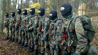 Тренировка бойцов антитеррористического подразделения KSK