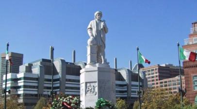 В Балтиморе снесли памятник Христофору Колумбу