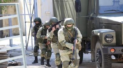 Военнослужащие ЧФ во время учений отразили нападение условного противника