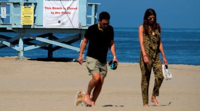 Пляж Венис Бич в Калифорнии