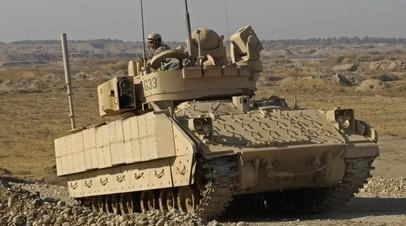Боевая машина пехоты M3A3 Bradley армии США в Ираке