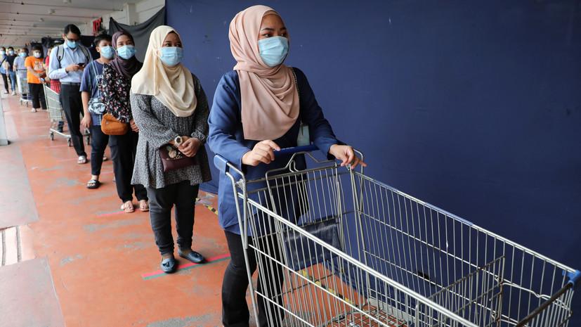 Жителей Малайзии обязали носить маски в общественных местах