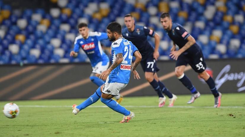 «Лацио» проиграл «Наполи» и занял четвёртое место в Серии А