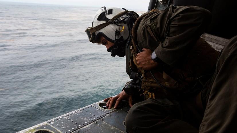 Пропавших при ЧП с машиной ВМС США восьмерых военных не нашли