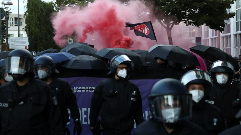 Более 130 человек задержаны во время протестов в Берлине
