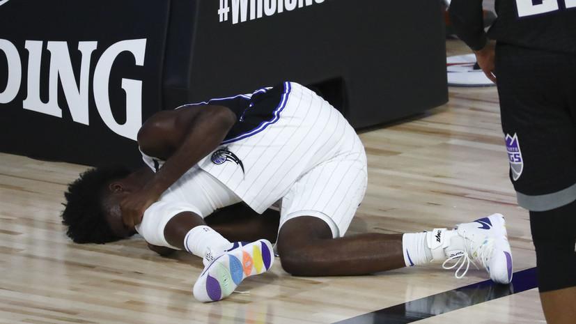 Не встававший на колено баскетболист «Орландо» Айзек получил тяжёлую травму
