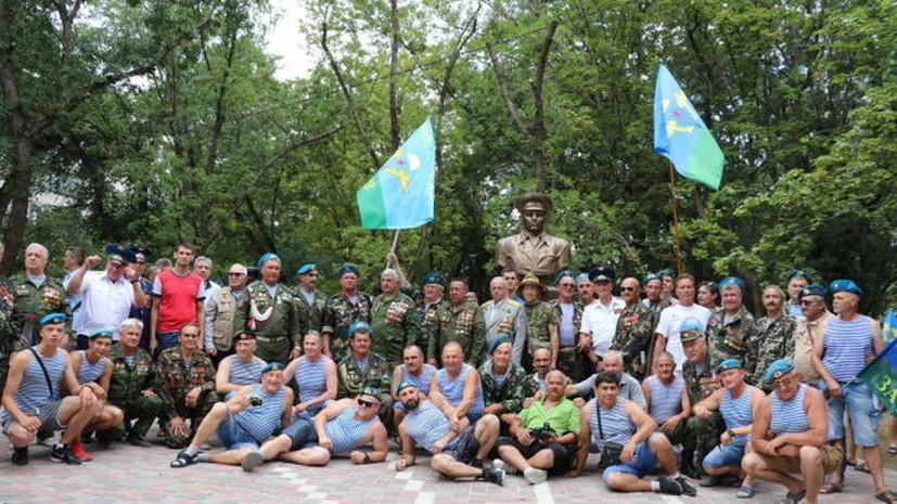 В Татарстане открыли памятник основателю ВДВ Маргелову