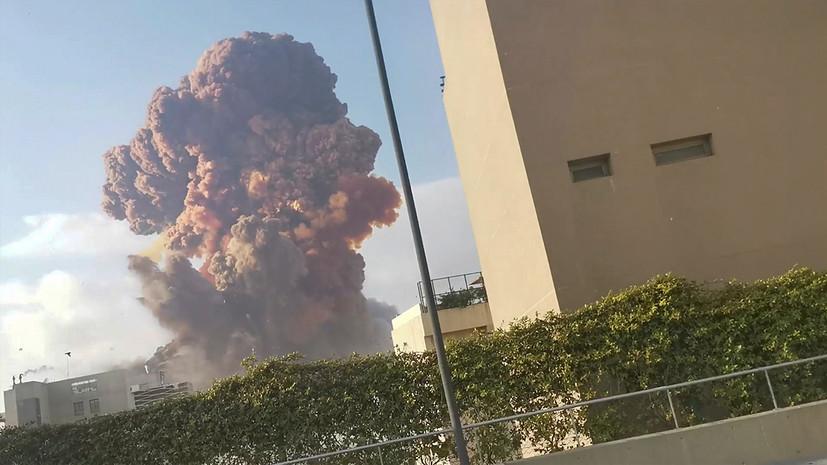 В Бейруте из-за взрыва разрушены несколько домов