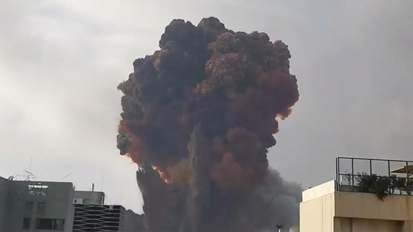 В Минздраве Ливана заявили о сотнях пострадавших при взрыве в Бейруте