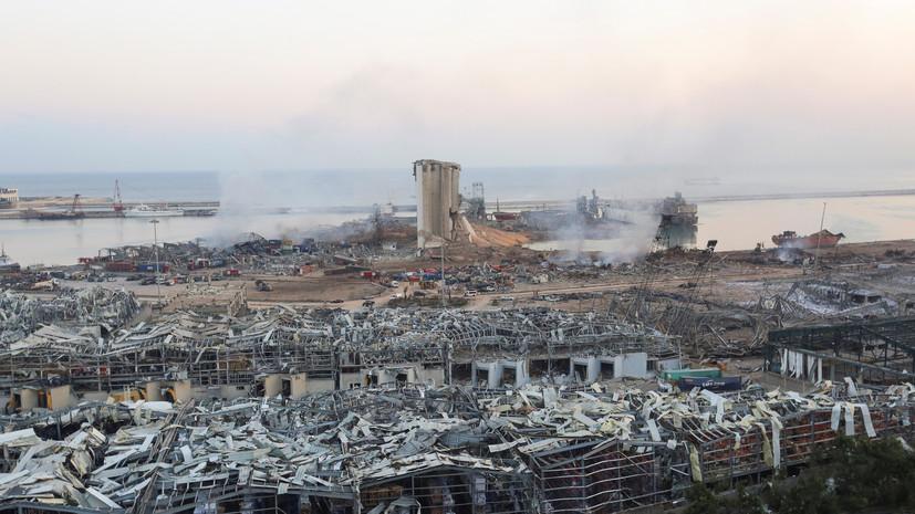 «Роскосмос» опубликовал фото последствий взрыва в Бейруте со спутника
