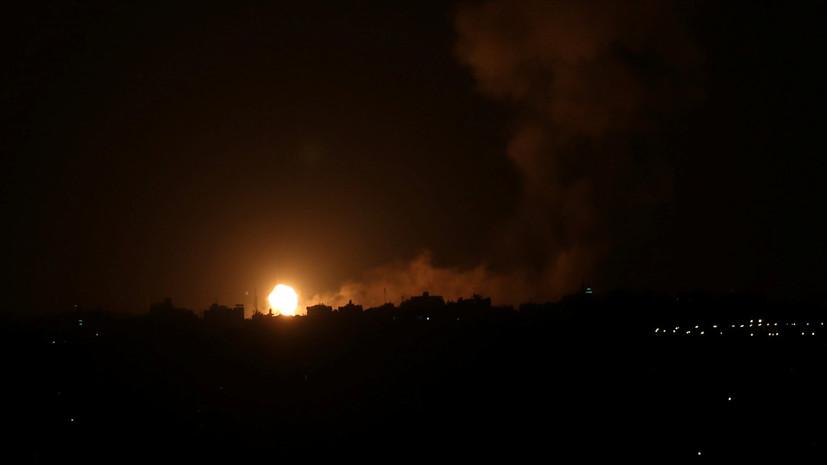 Израиль нанёс удар по объекту ХАМАС в Газе в ответ на обстрел