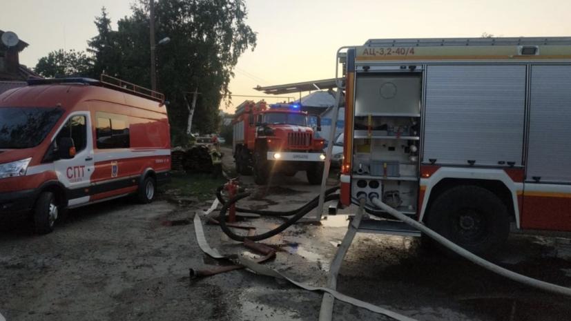 В Самаре локализовали пожар на месте возгорания десяти домов