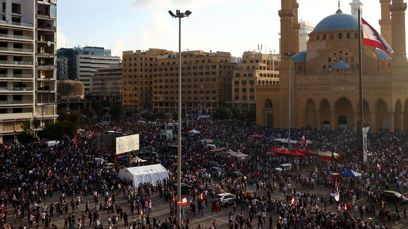 СМИ: Протестующие штурмуют здание Минэкономики в центре Бейрута