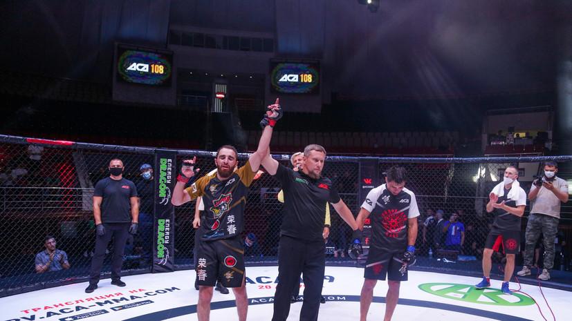 Адаев победил Галиева на турнире ACA 108