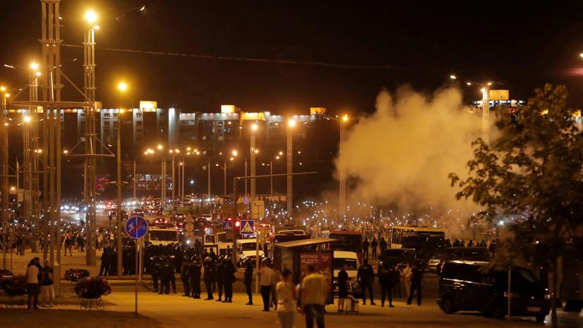 В МВД Белоруссии заявили об отсутствии погибших в ходе беспорядков