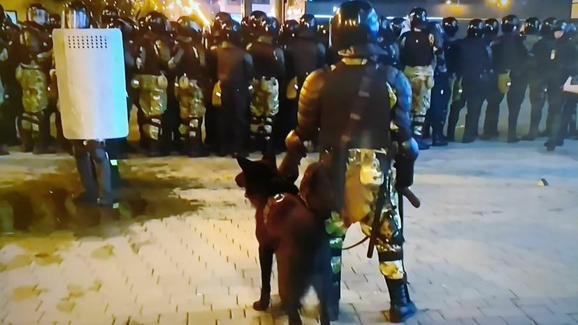 МВД Белоруссии сообщило о задержаниях участников протестов