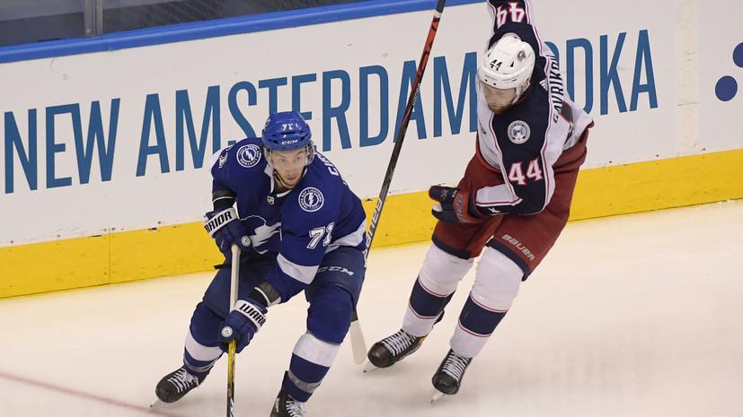 «Тампа» обыграла «Коламбус» в четвёртом по продолжительности матче в истории НХЛ