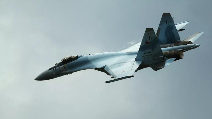 Минобороны показало видео воздушного боя истребителей Су-35С
