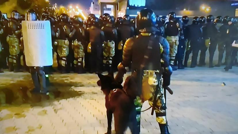 Силовики не задержали протестующих у проспекта Дзержинского в Минске