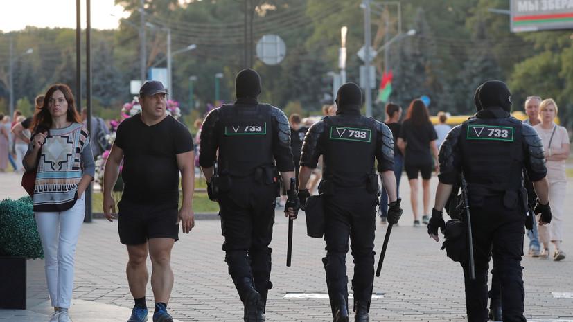 Милиция перекрыла подходы к площади Независимости в Минске