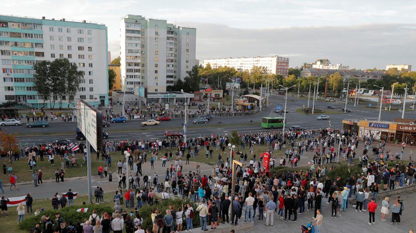 В Минске на акцию протеста вышли работники железной дороги