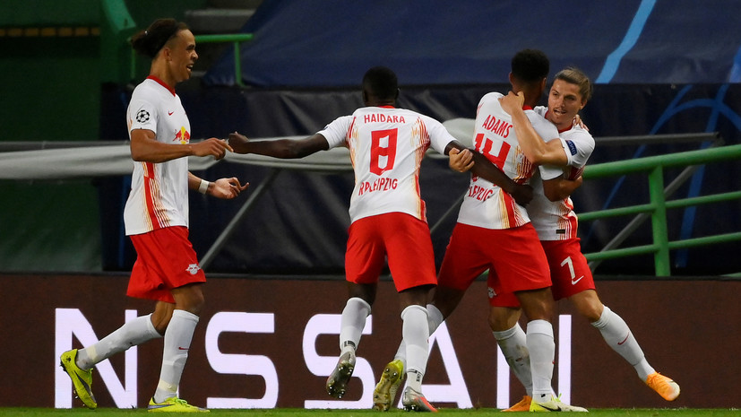 «Лейпциг» победил «Атлетико» благодаря голу на 88-й минуте и вышел в 1/2 финала ЛЧ