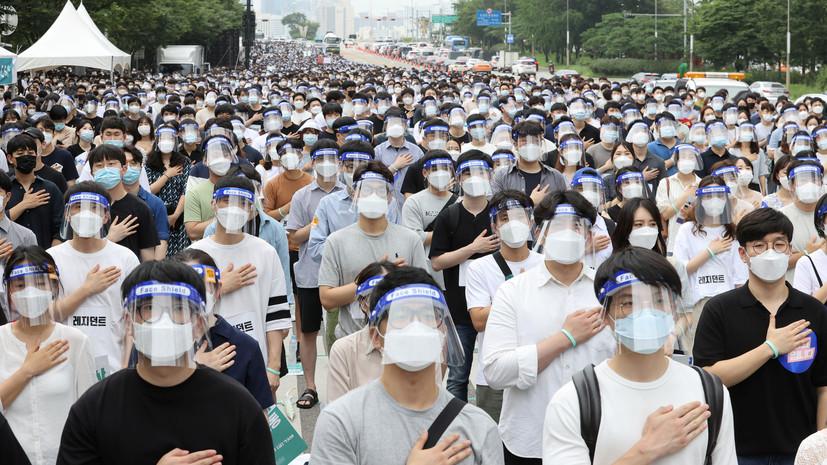 В Южной Корее выявили 103 новых случая коронавируса за сутки
