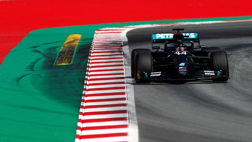 Хэмилтон стал лучшим во второй практике Гран-при Испании, Квят — 15-й