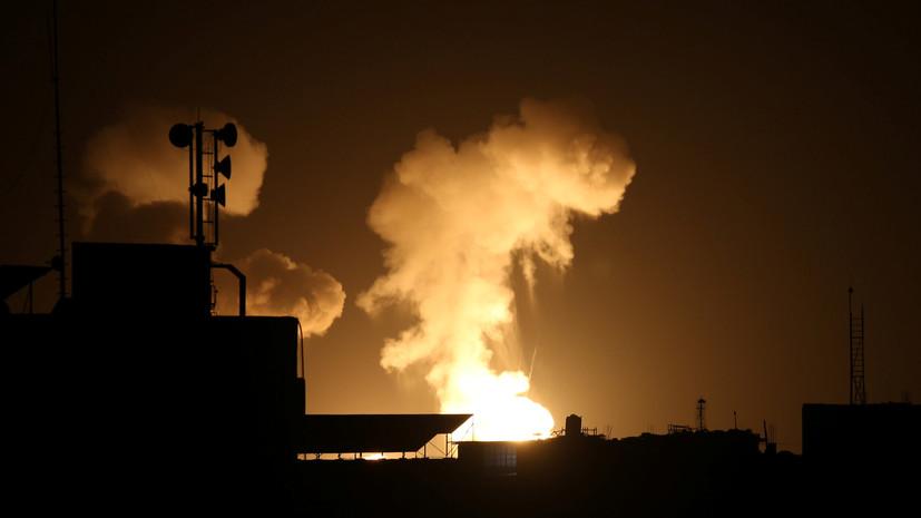 Армия Израиля нанесла удары по объектам ХАМАС в Газе