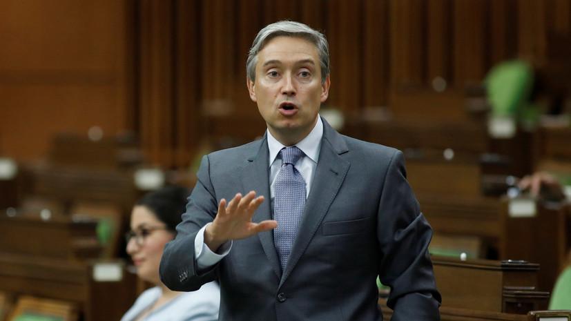 Глава МИД Канады заявил о непризнании итогов выборов в Белоруссии