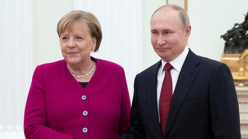 Меркель и Путин обсудили ситуацию в Белоруссии
