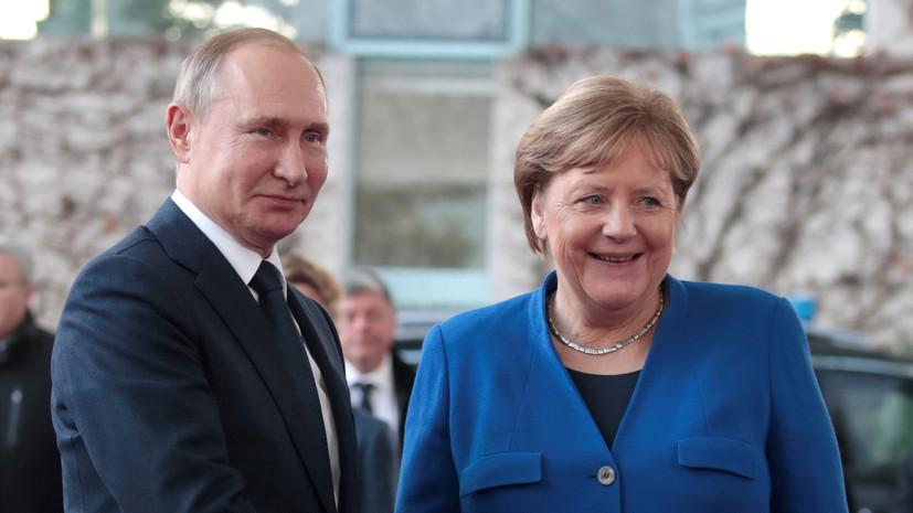 В Кремле сообщили детали разговора Путина и Меркель