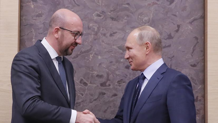 В Кремле рассказали о разговоре Путина и главы Евросовета