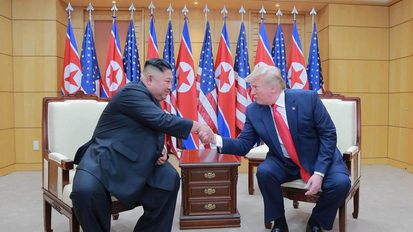 Трамп заявил о хороших отношениях с Ким Чен Ыном