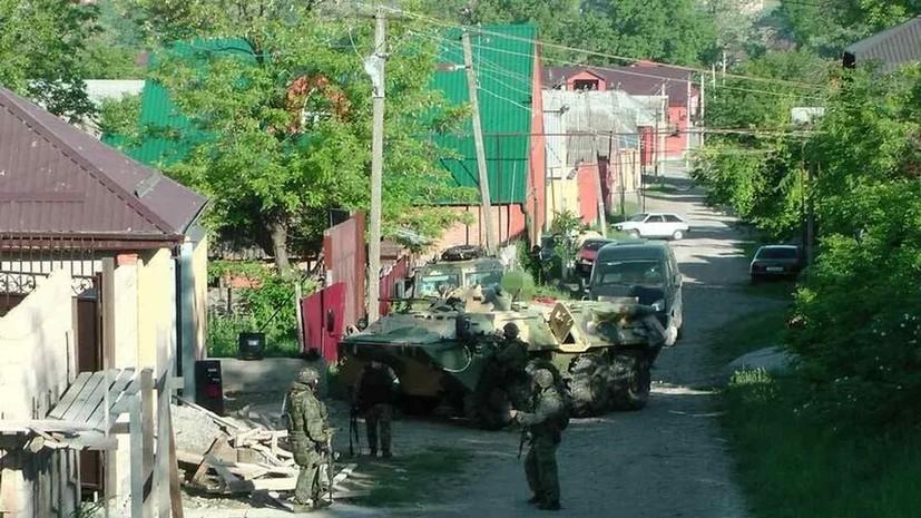 Режим КТО в поселении Троицкое в Ингушетии снят