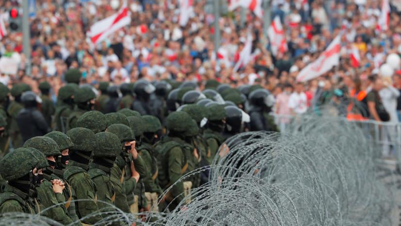 В МВД заявили об отсутствии задержаний в ходе протестов в Минске