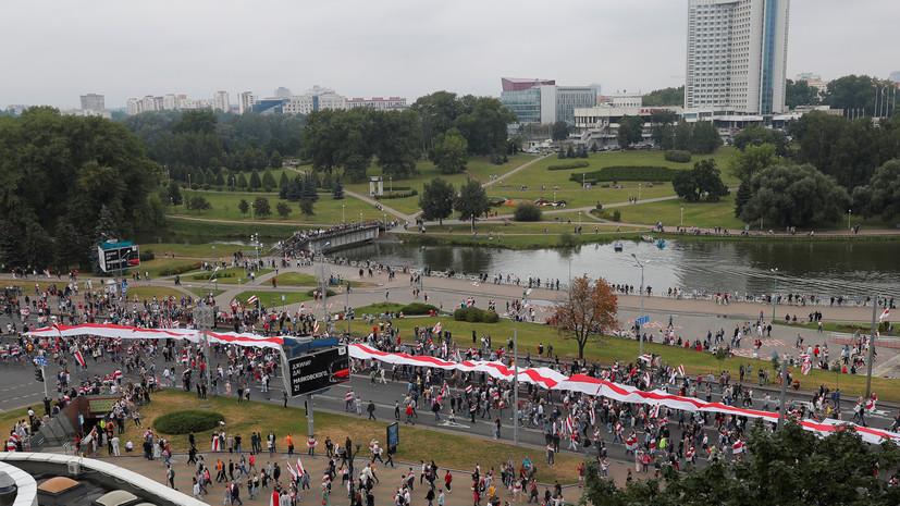 МВД Белоруссии назвало численность воскресных акций протестов в стране