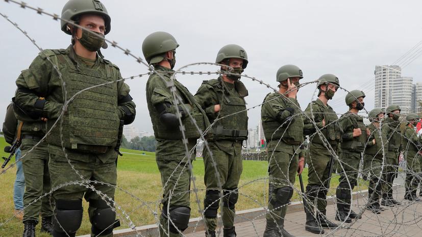 Милиция сообщила о задержаниях у Дома правительства Белоруссии