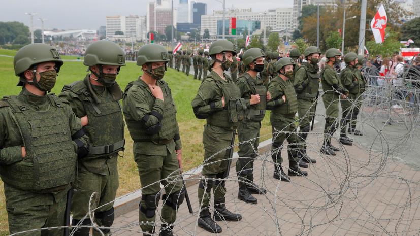 Армия Белоруссии заявила о готовности защищать страну от угроз внутри