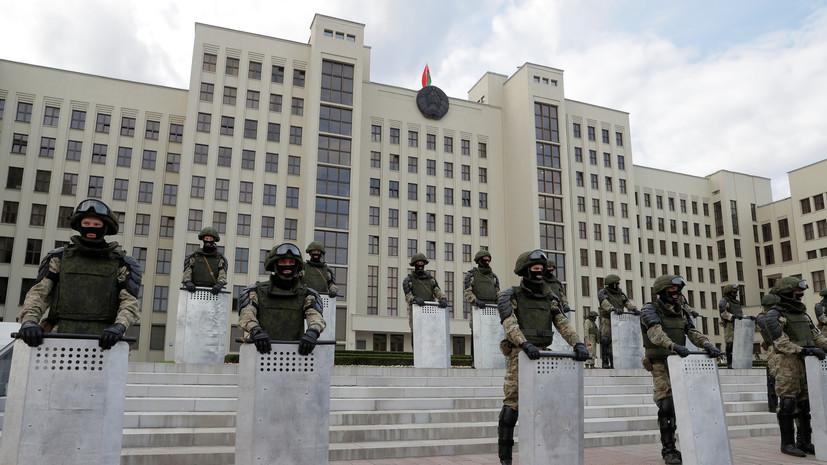 Милиция Минска сообщила о задержаниях на акции протеста у правительства