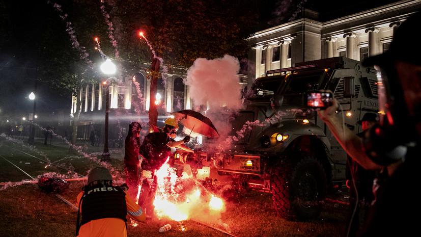 В Кеноше намерены продлить комендантский час из-за беспорядков